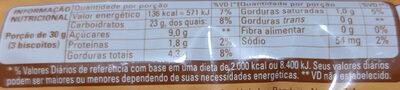 Bono Sabor Churros - Informação nutricional - pt