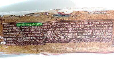 Biscoito Nesfit Maçã e Canela - Ingredients - pt