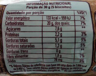 Biscoito Nesfit Maçã e Canela - Nutrition facts - pt