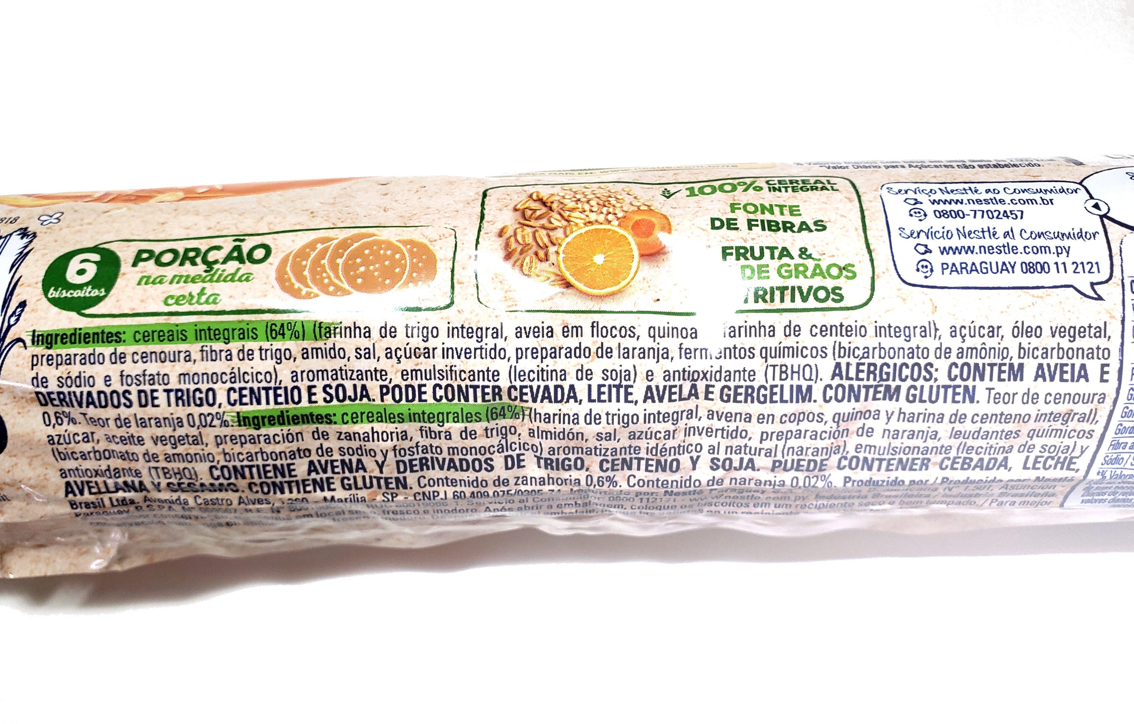 Biscoito Nesfit Laranja e Cenoura - Ingredients - pt
