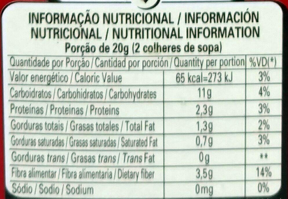 Chocolate em pó solúvel Dois frades - Nutrition facts