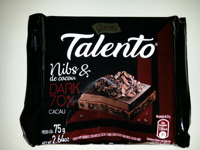 Talento Nibs de cacau 70% - Product - pt