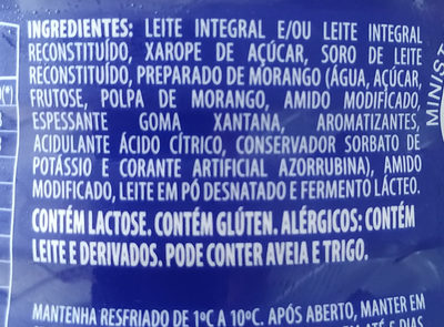 iogurte Danone - Ingredientes