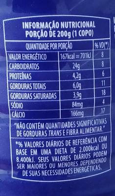 iogurte Danone - Informação nutricional