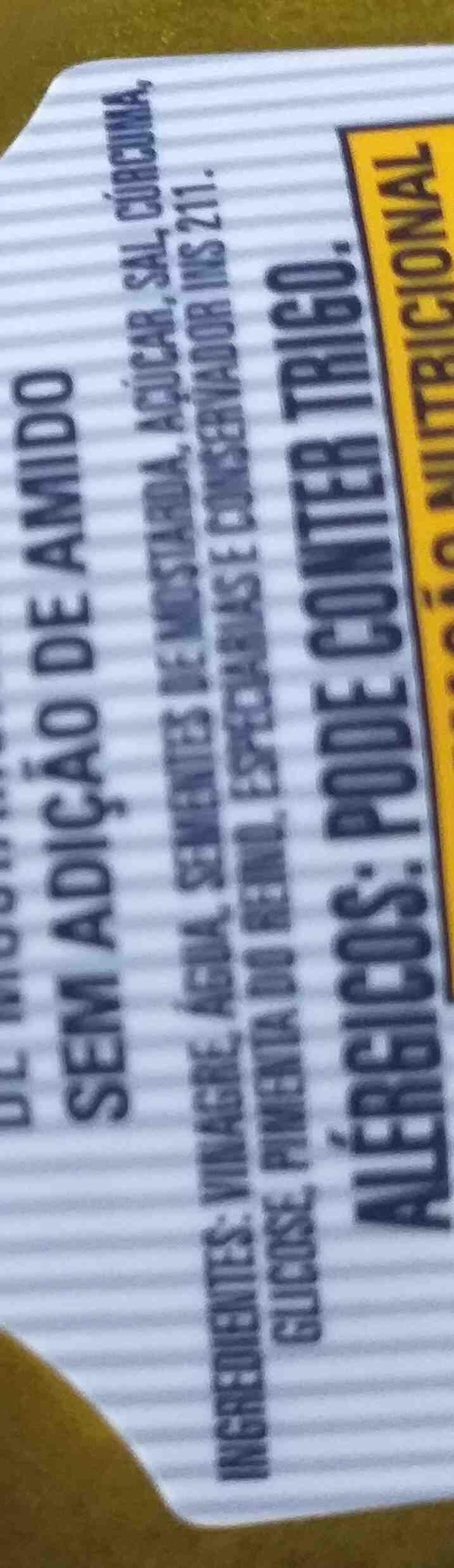 Mostarda Amarela Hemmer - Ingredientes - en