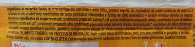 Nissin Lámen Galinha Caipira - Ingredientes - pt