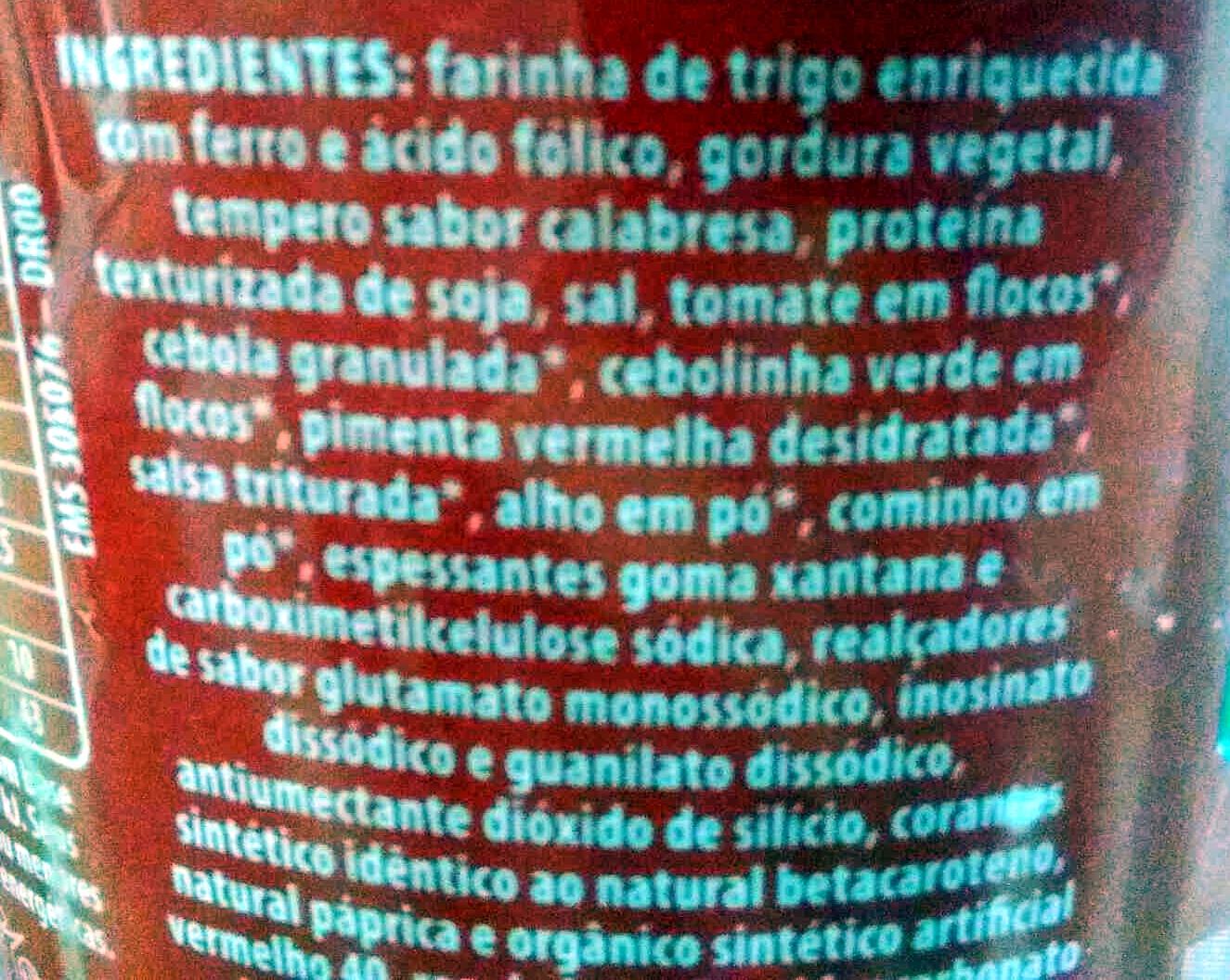 Cup Noodles Calabresa - Ingredientes - pt