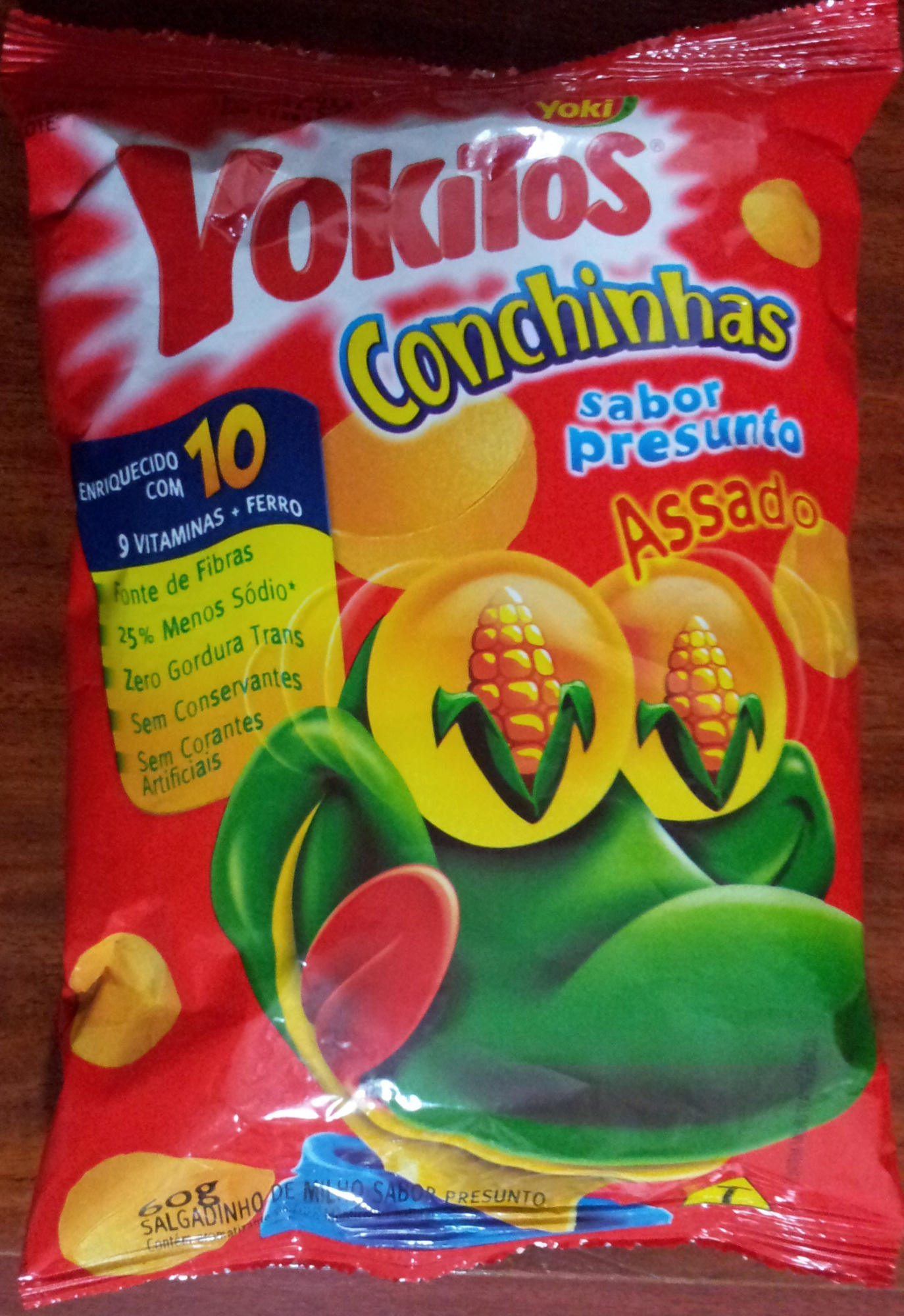 Yokitos Conchinhas Sabor Presunto - Product