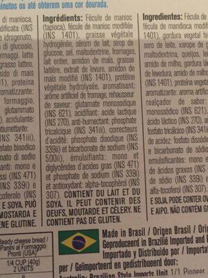 Pao De Queijo Yoki 250Gr., - Ingredients