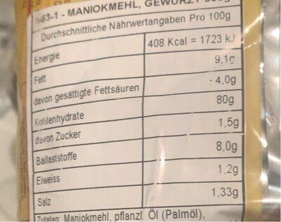 Farofa Pronta - Yoki - 500GR - Informação nutricional - es