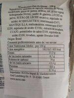 Pão de Queijo - Informação nutricional - pt