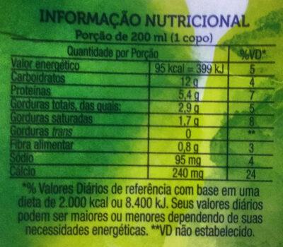 Naturis Soja - Informations nutritionnelles - pt