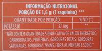 Leao Matte Tea Natural 25G - Informação nutricional - pt