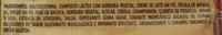 Vono Champignon - Ingredientes - pt