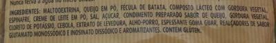 Vono Espinafre com Queijo - Ingredientes - pt