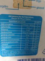 Benefice 7 grãos pão com 7 grãos - Informação nutricional