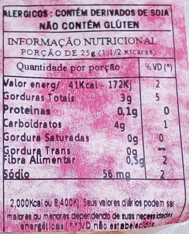 Batata Doce - Informação nutricional - pt