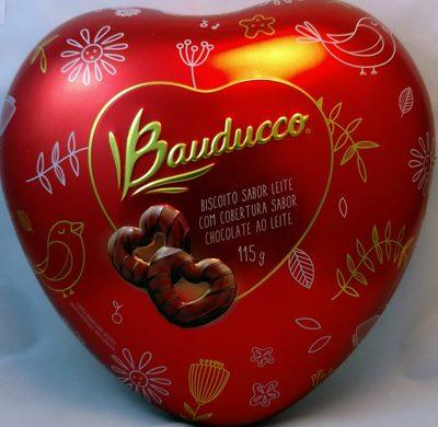Biscoito sabor leite com cobertura sabor chocolate ao leite - Produit