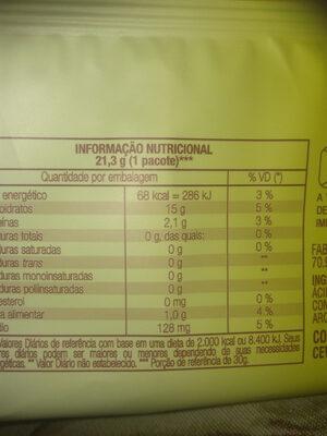- Informação nutricional - pt