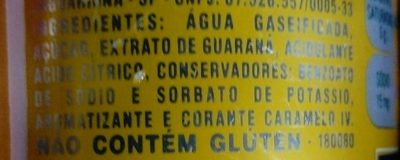 Guarana Antarctica - Ingredients