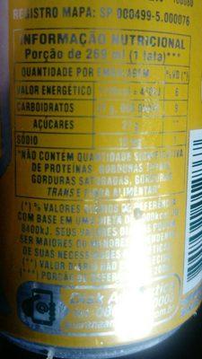 Guarana Antarctica - Nutrition facts
