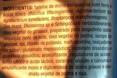 Cheetos onda sabor requeijão - Ingredients