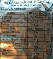 Cheetos onda sabor requeijão - Nutrition facts