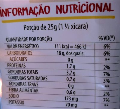 Fandangos sabor presunto - Nutrition facts