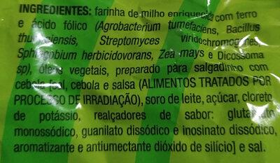 Salgadinho de Milho com Cebola - Ingredientes