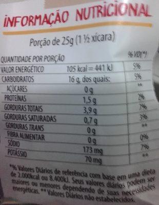 Fandangos sabor Queijo - Informação nutricional - pt