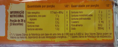 Clube Social Integral - Nutrition facts