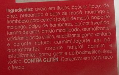 Quaker Cereal Mix Iogurte com Frutas Vermelhas - Ingrediënten