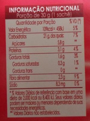 Quaker Cereal Mix Iogurte com Frutas Vermelhas - Voedigswaarden