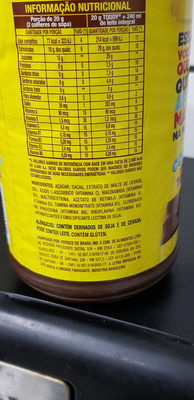 Achocolatado Toddy 800g - Ingredientes - pt