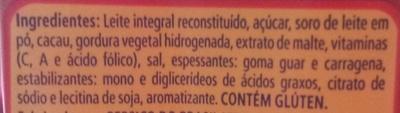 Toddynho - Ingredients - pt