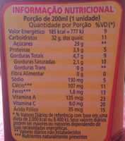 Toddynho - Nutrition facts - pt