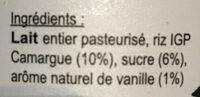 Riz au lait - Ingredients - fr