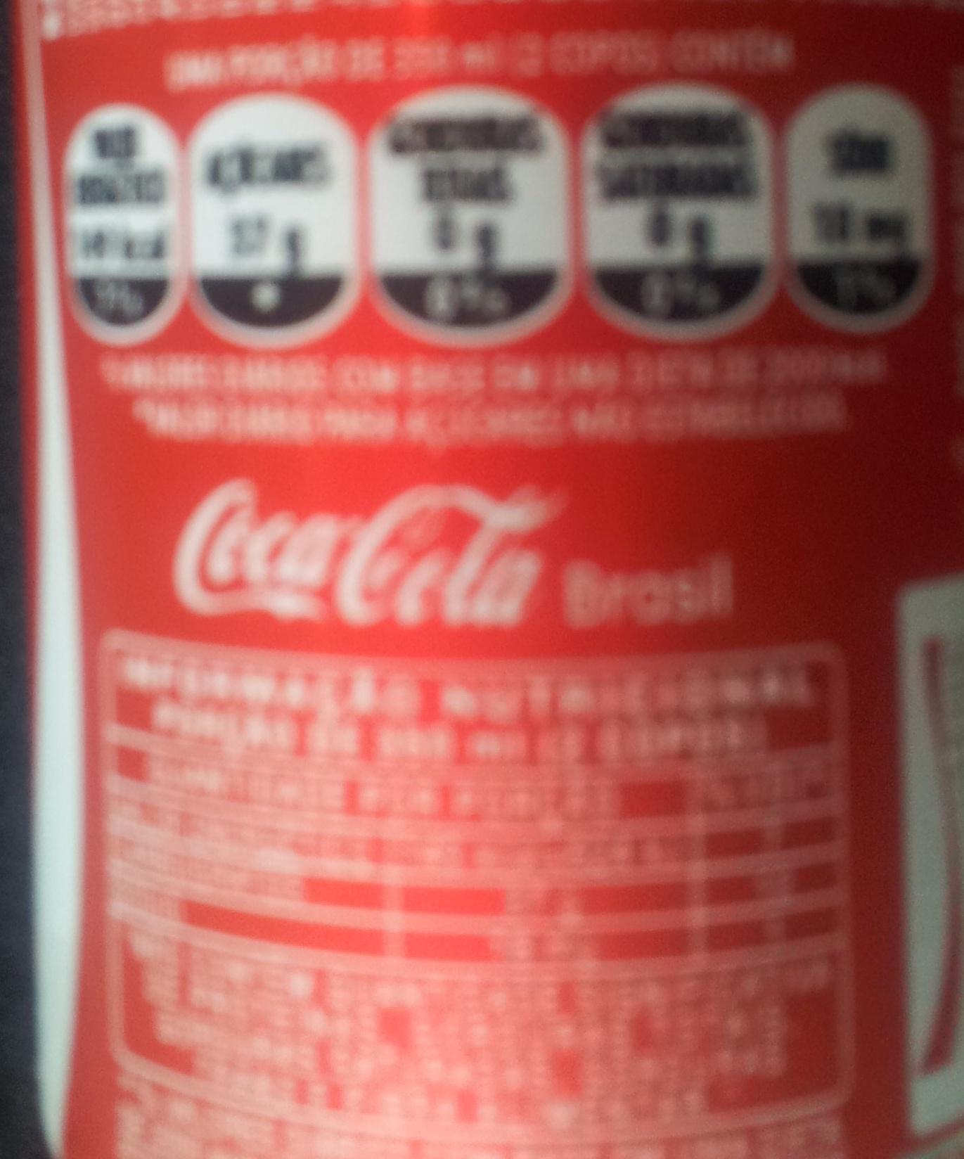 Coca-Cola - Informação nutricional - pt