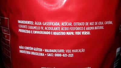 Coca-Cola - Ingredientes - pt
