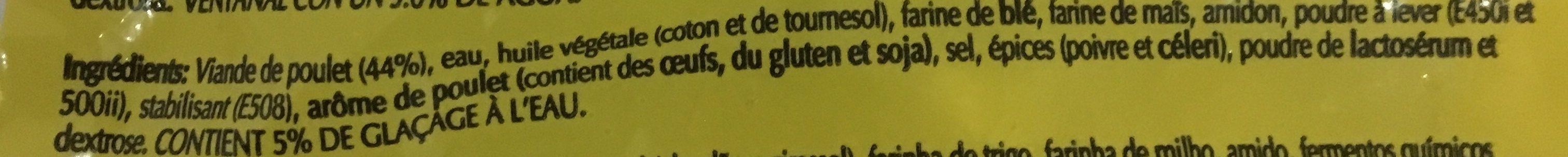 Chicken nuggets halal - Ingredientes - fr