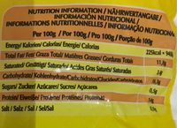 Chicken nuggets halal - Informação nutricional - fr