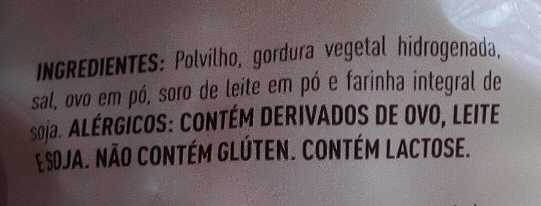 Biscoito de Polvilho Salgado - Ingredientes - pt