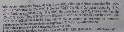 Qualitá Ovos Tipo Extra Branco - Nutrition facts