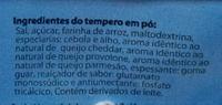Qualitá Macarrão Instantâneo 4 Queijos - Ingrediënten
