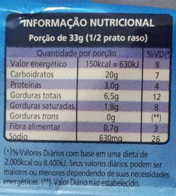 Qualitá Macarrão Instantâneo 4 Queijos - Voedingswaarden