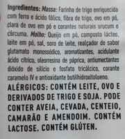 Macarrão com queijo tipo MAC & CHEESE sabor Cheddar e Bacon - Ingredientes - pt