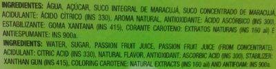 Maguary Maracujá - Ingredients