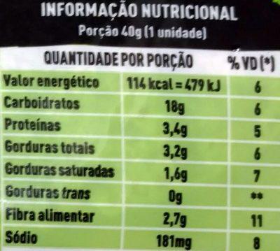 Rap10 Integral - Nutrition facts
