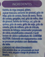 Pullman Integral 12 Grãos - Ingredients