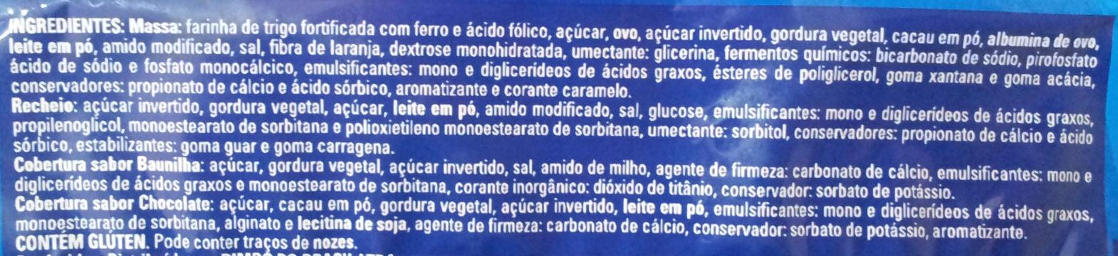 Pingüinos - Ingredientes - pt